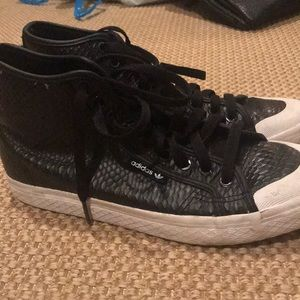 Adidas Snake Skin High Top Sneakers Women's